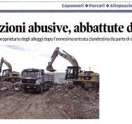 Demolizione abitazioni occupate abusivamente – Ottobre 2015